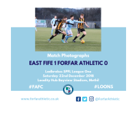 Match Photographs - East Fife 1 Forfar Athletic 0