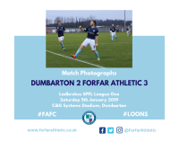 Match Photographs - Dumbarton 2 Forfar Athletic 3