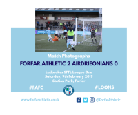 Match Photographs: Forfar Athletic 2 Airdrieonians 0