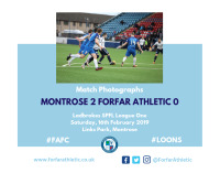 Match Photographs: Montrose 2 Forfar Athletic 0