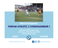 Match Photographs: Forfar Athletic 2 Stenhousemuir 1