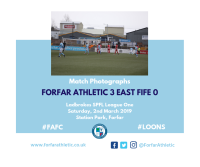 Match Photographs: Forfar Athletic 3 East Fife 0