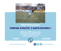 Match Photographs: Forfar Athletic 2 Raith Rovers 1
