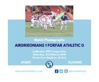 Match Photographs: Airdrieonians 1 Forfar Athletic 0