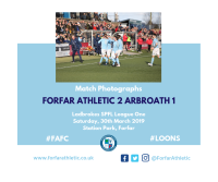 Match Photographs: Forfar Athletic 2 Arbroath 1