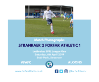 Match Photographs: Stranraer 2 Forfar Athletic 1