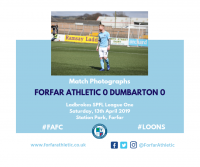 Match Photographs: Forfar Athletic 0 Dumbarton 0