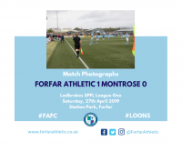 Match Photographs: Forfar Athletic 1 Montrose 0