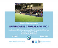 Match Photographs: Raith Rovers 2 Forfar Athletic 1
