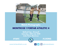 Match Photographs: Montrose 1 Forfar Athletic 4