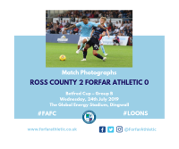 Match Photographs: Ross County 2 Forfar Athletic 0