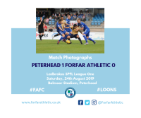 Match Photographs: Peterhead 1 Forfar Athletic 0