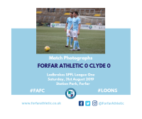 Match Photographs: Forfar Athletic 0 Clyde 0