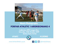Match Photographs: Forfar Athletic 1 Airdrieonians 4