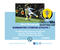 Match Photographs: Dumbarton 3 Forfar Athletic 1