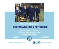Match Photographs: Forfar Athletic 2 Peterhead 1