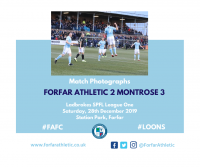 Match Photographs: Forfar Athletic 2 Montrose 3
