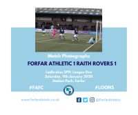 Match Photographs: Forfar Athletic 1 Raith Rovers 1