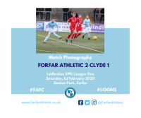 Match Photographs: Forfar Athletic 2 Clyde 1