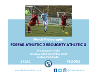 Match Photographs: Forfar Athletic 2 Broughty Athletic 0