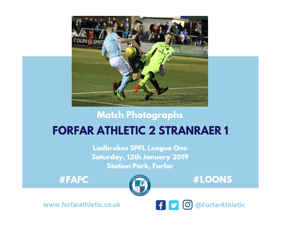 2019 01 12 Forfar Athletic 2 Stranraer 1