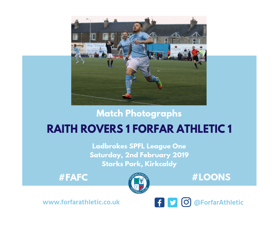 2019 02 02 Raith Rovers 1 Forfar Athletic 1