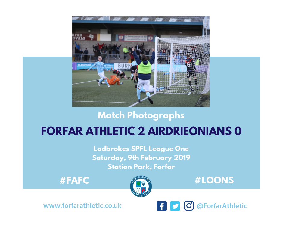 2019 02 09 Forfar Athletic 2 Airdrieonians 0