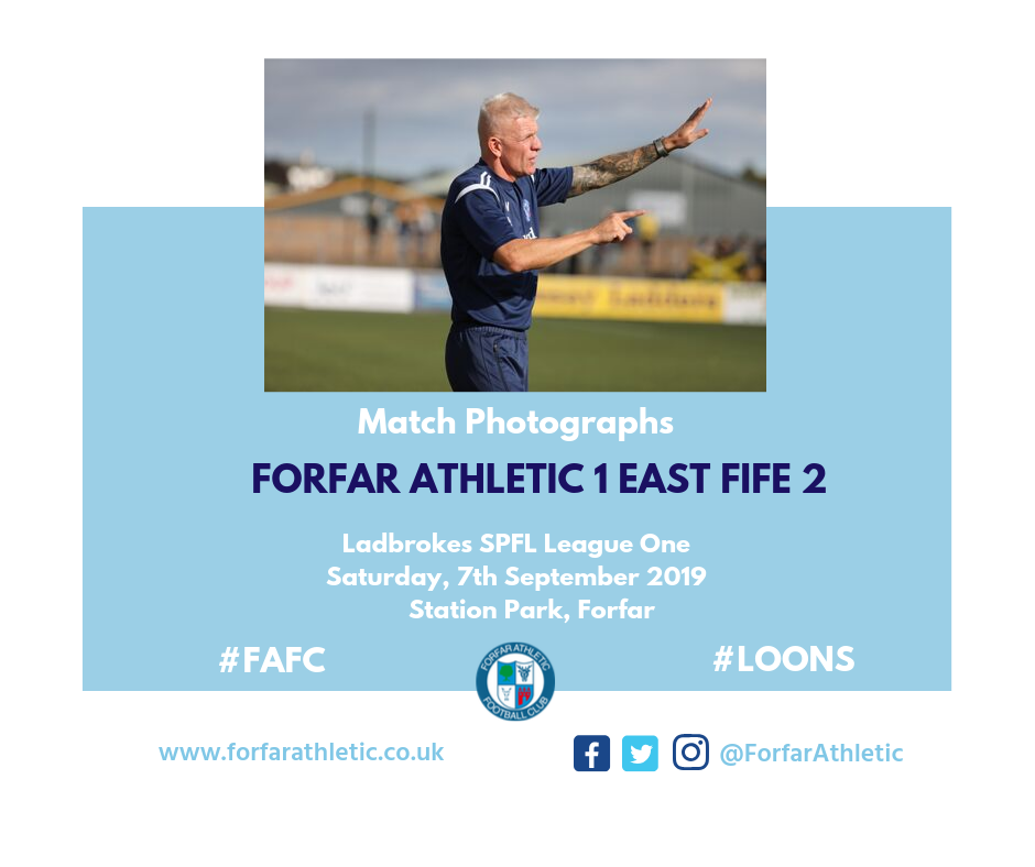 2019 09 07 Forfar Athletic 1 East Fife 2