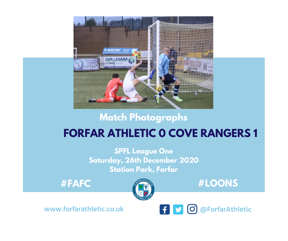 2020 12 24 Forfar Athletic 0 Cove Rangers 1